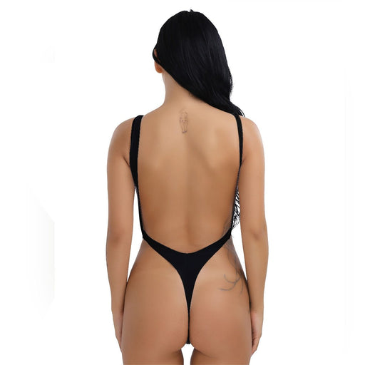 Sexy Women's Backless One Piece Thong Bikini Push Up Swimsuit Beachwear - SolaceConnect.com