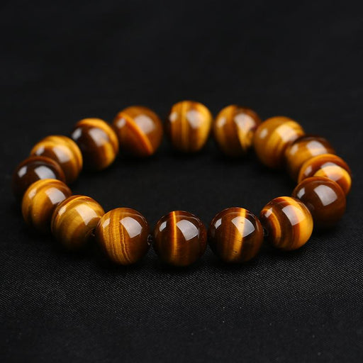 Minimalist Natural Stone Beads Tiger Eye Buddha Yoga Bracelets for Male - SolaceConnect.com