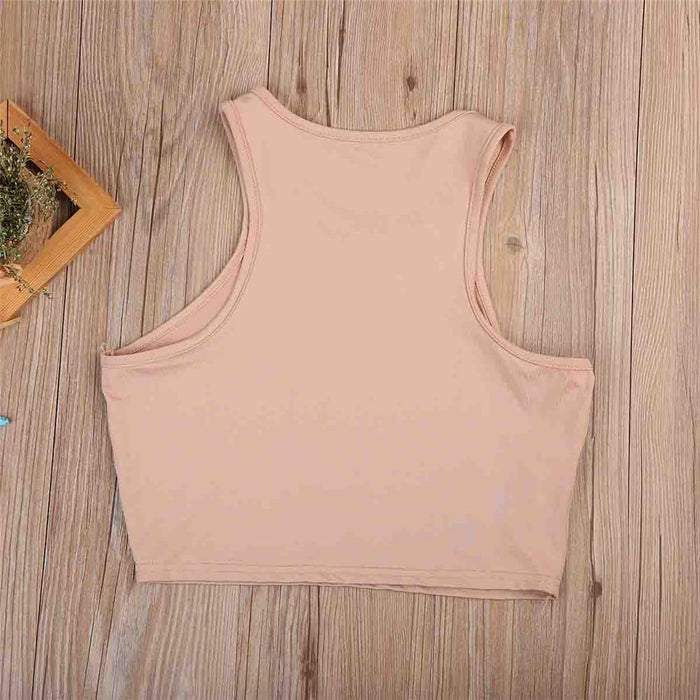 Casual Women's Summer Sleeveless O Neck Letter Print Tank Tops Camis - SolaceConnect.com
