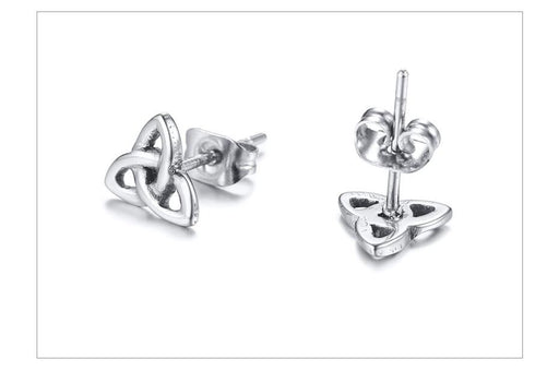 Vintage Celtic Knot Stainless Steel Stud Earrings for Women Ideal for Gift - SolaceConnect.com