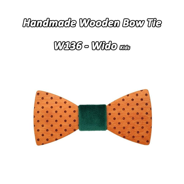 Elegant Fashion Floral Papillon Wooden Bowties for Children Women Men - SolaceConnect.com