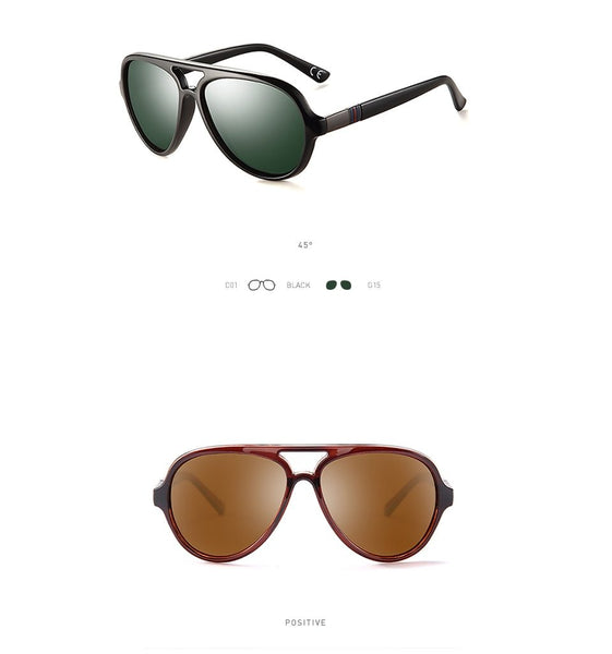 Polarized Coating Oval Black Frame Men's Sunglasses and Driving Eyewear - SolaceConnect.com