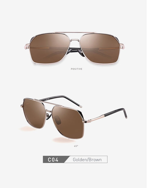 Men's Classic Vintage Polarized Aviation Design Frame Sunglasses - SolaceConnect.com