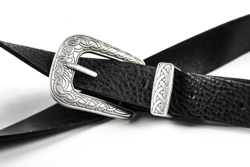 Women's Grommet Hole Synthetic Leather 1-Prong Buckle Waist Belts for Jeans - SolaceConnect.com