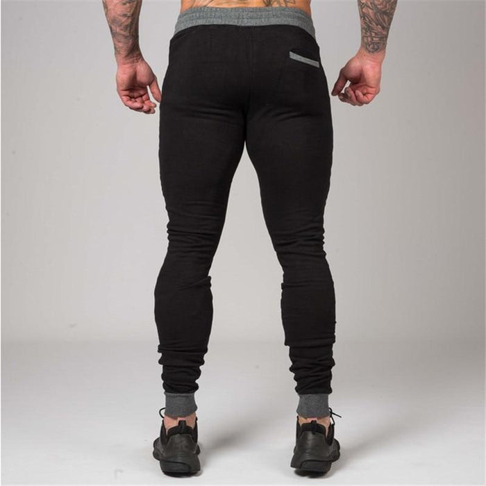 Casual Men's Fashion Cotton Fitness Bodybuilding Skinny Trousers Sweatpants - SolaceConnect.com