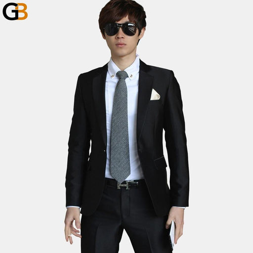 (Jacket+Pant+Tie) Luxury Men Wedding Suit Male Blazers Slim Fit Suits For Men Costume Business - SolaceConnect.com