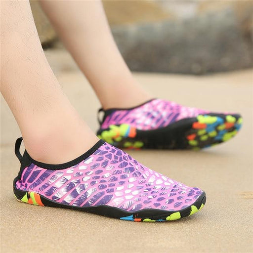 Summer couple beach swimming thick-soled men's women's sandals stick skin feet non-skid diving - SolaceConnect.com