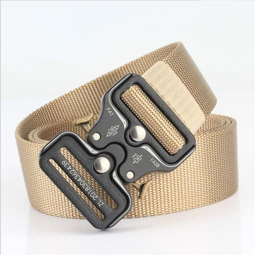 Canvas Nylon Quick Release Metal Buckle Army Training Unisex Belt - SolaceConnect.com