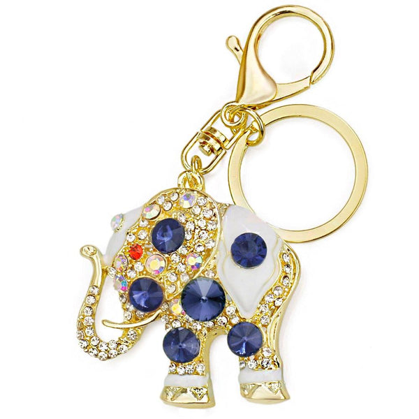 Trendy Amazing Crystal Elephant Pendant Bag Buckle Key Chains - SolaceConnect.com