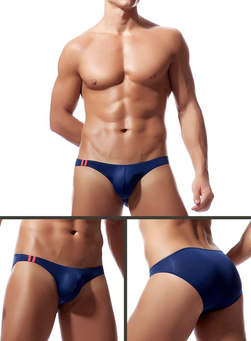 Sexy Men's Soft Breathable Silk Transparent Jockstrap Briefs Underwear - SolaceConnect.com