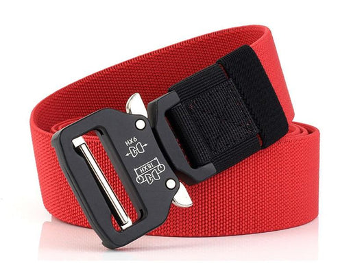 Nylon Canvas Quick Release Metal Buckle Army Training Elastic Belt for Men - SolaceConnect.com