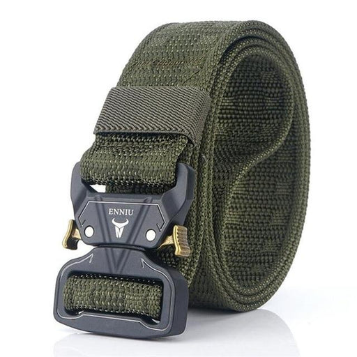 Canvas Multifunctional Quick-Release Metal Buckle Military Men's Belt - SolaceConnect.com