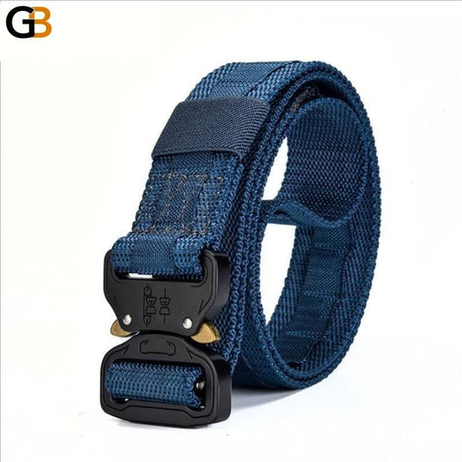 Nylon Canvas Quick Release Metal Buckle Tactical Training Men's Belt - SolaceConnect.com