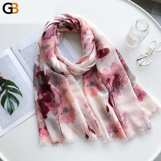 Fashion Women's Autumn Winter Cotton Silk Designer Scarves Scarf Shawl - SolaceConnect.com