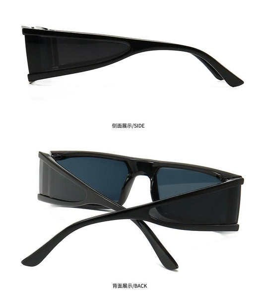 Women's Transparent Small Frame Fashion Rectangle Sunglasses - SolaceConnect.com