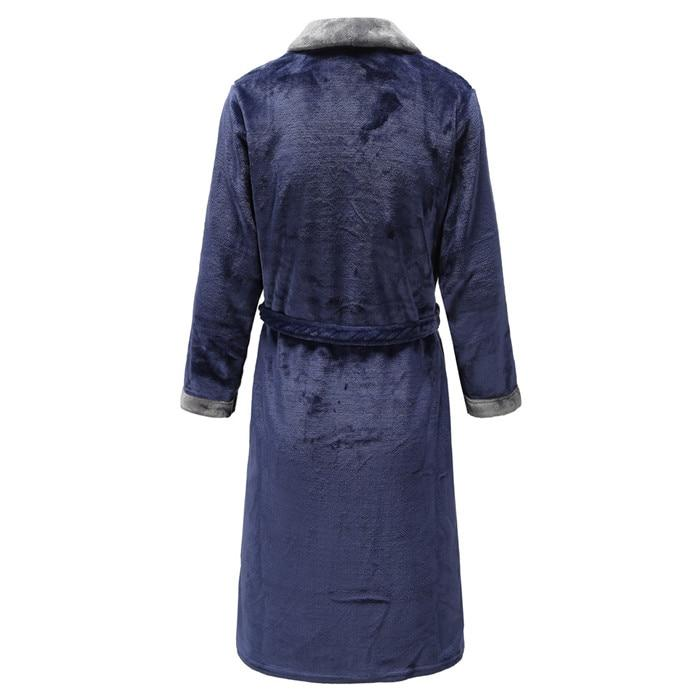 Lovers Winter Flannel Ultra Thick Coral Kimono Bathrobe Gown Nightwear - SolaceConnect.com