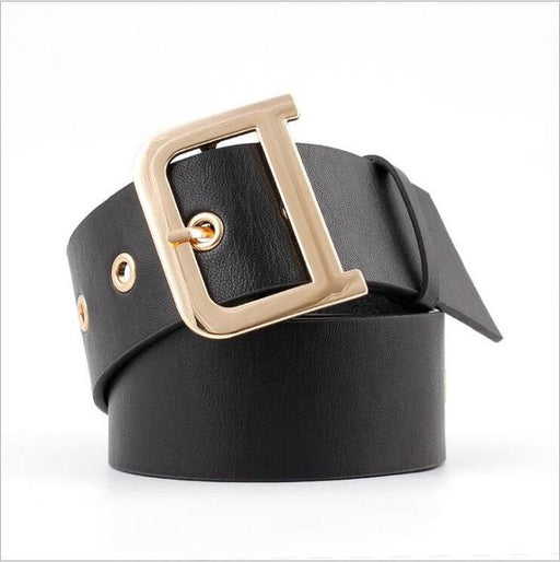 Ladies 4.8 cm Wide Solid Black Red Tan Ring Girdles Waistband Belts - SolaceConnect.com
