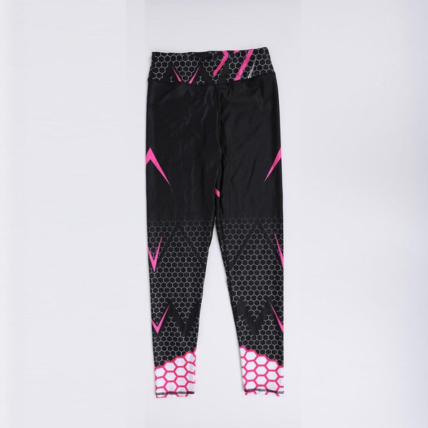 Workout Sporting Elastic Force Breathable Fitness Leggings Pattern Digital Printing Outdoor - SolaceConnect.com