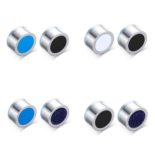 Unisex Stainless Steel Magnetic Gauss Health Artes Brincos Stud Earrings - SolaceConnect.com