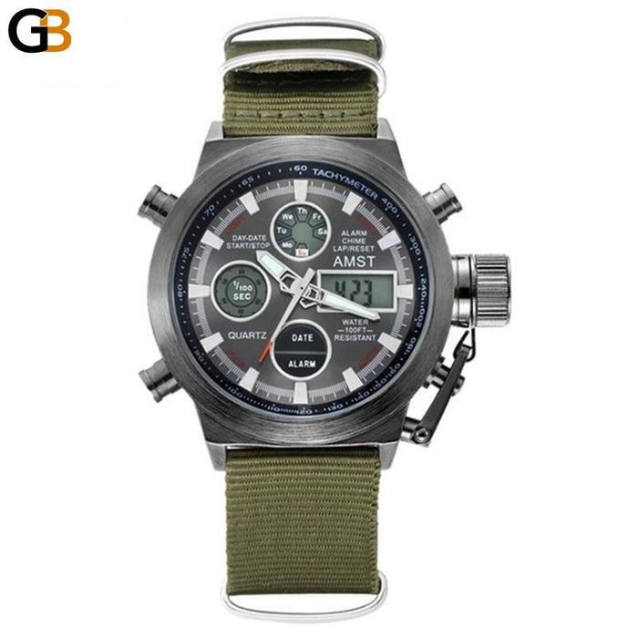 Men's Fashion Sports Casual Waterproof Digital Display Quartz Wristwatches - SolaceConnect.com