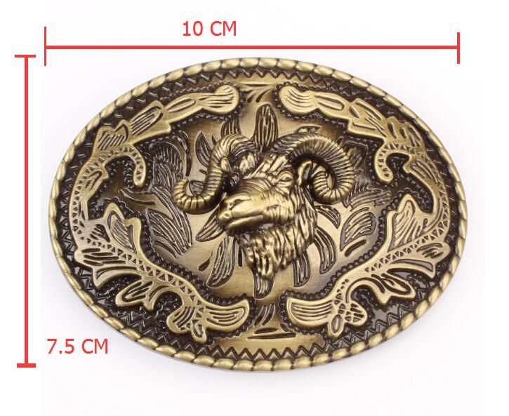 Men women jeans belt genuine leather ram head buckle copper goat flowers 5 colors belt for women men - SolaceConnect.com