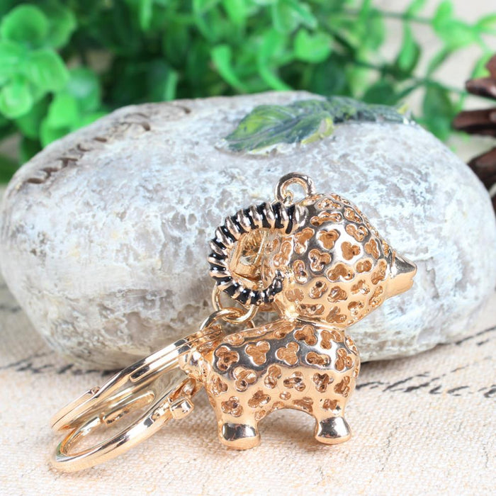 Lamb Sheep Crystal Rhinestone Fortune Key Chain Charm Pendant for Purse - SolaceConnect.com