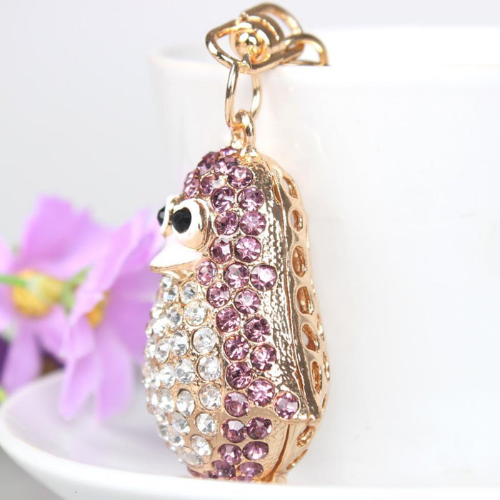 Hot Pretty Penguin Bird Lovely Rhinestone Crystal Purse Pendant & Key Chain - SolaceConnect.com