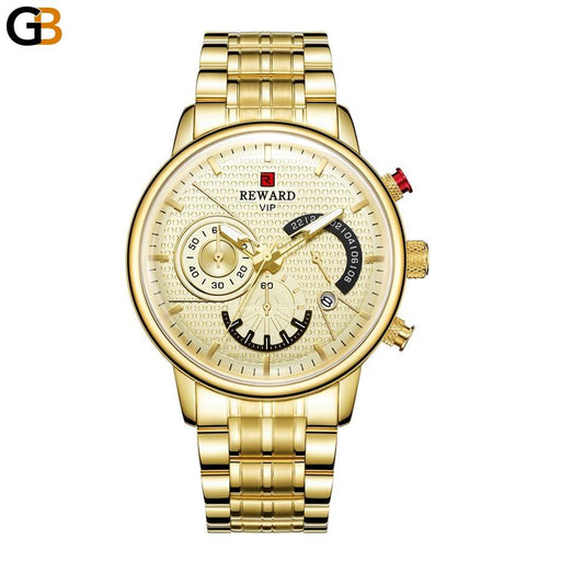 Men's Top Casual Full Stainless Steel Waterproof Quartz Watches - SolaceConnect.com