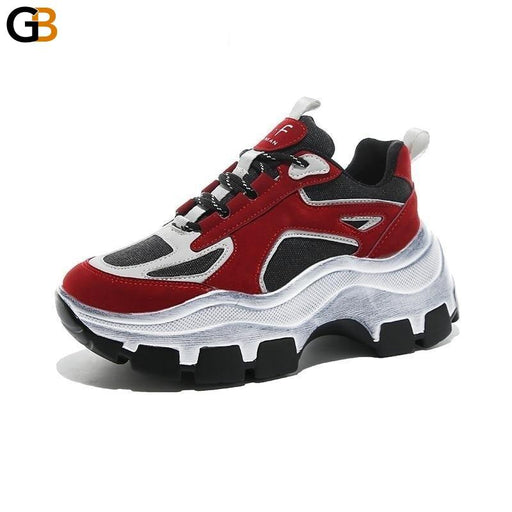 Women's Winter Thick Bottom Round Toe Breathable Leisure Sneakers Shoes - SolaceConnect.com
