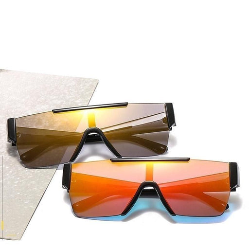 Unique Oversized Coating Reflective Silver Sunglasses for Women & Men - SolaceConnect.com