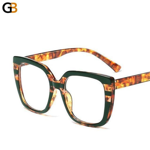 Women's Cat Eye Design Myopia Spring Legs Square Frame Glasses - SolaceConnect.com