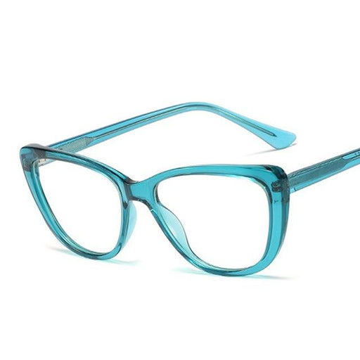 High Quality Spring Hinge Green Clear Designer Glasses for Ladies - SolaceConnect.com