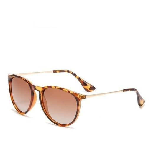 Vintage Retro UV Protected Polarized Round Sunglasses for Women - SolaceConnect.com