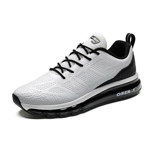 Men's Leather Upper Athletic Air Cushion Waterproof Running Sneakers - SolaceConnect.com
