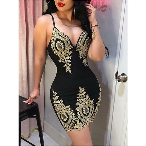 Dress Fashion Women Summer Dress Women Bandage Bodycon Party Casual Dress Club Short Mini Dress - SolaceConnect.com