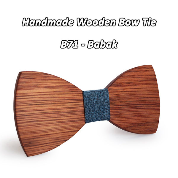 Simple Wooden Cravat Bowties for Groom Wedding Party Formal Business Wear - SolaceConnect.com
