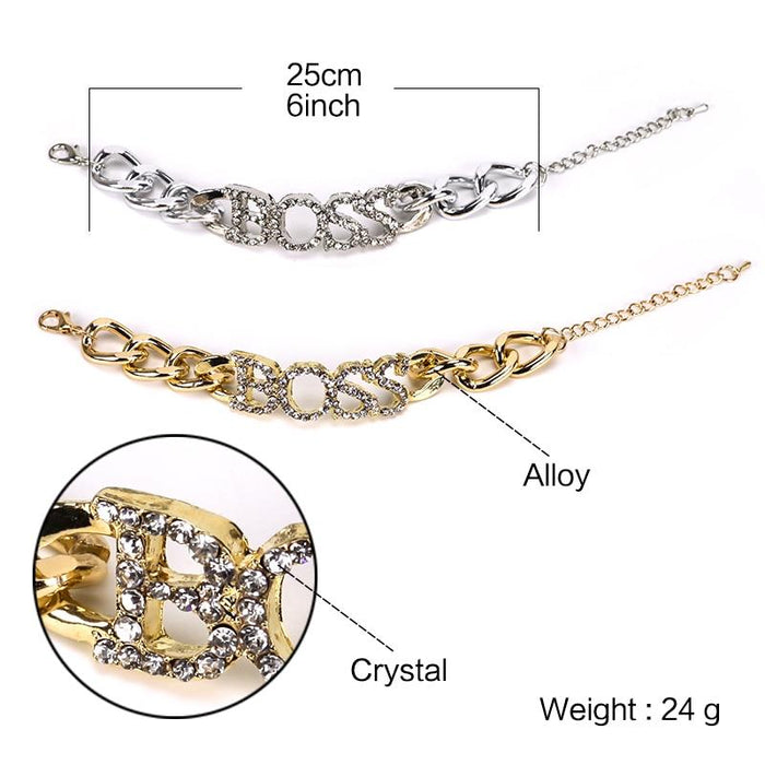 Women's Luxury Letter Fashion Crystal Pendant Necklace Chain - SolaceConnect.com