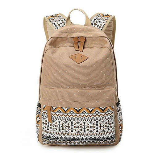 Canvas Printing Women Backpack Vintage Laptop Rucksack Female Bagpack School Bag for Teenage Girls - SolaceConnect.com