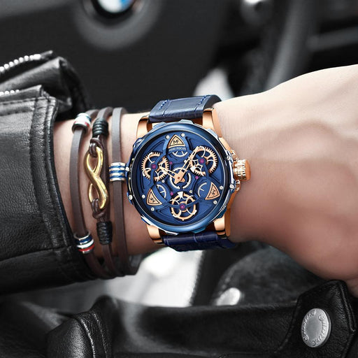 Luxury Casual Sports Military Quartz Skeleton Watches for Men - SolaceConnect.com