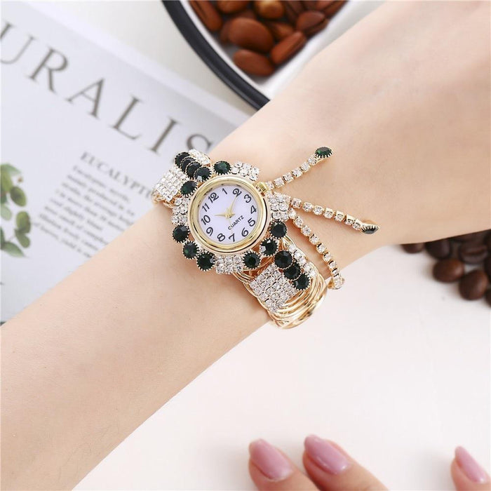 Luxury Fashion Rhinestones Relogio Feminino Bracelet Wrist Watches - SolaceConnect.com