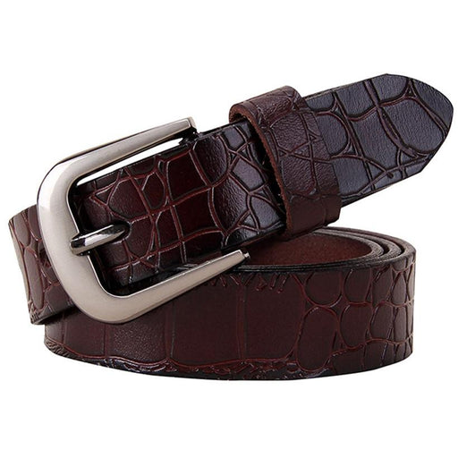 Genuine leather belts for women Fashion Pin buckle woman belt second layer cow skin strap female - SolaceConnect.com