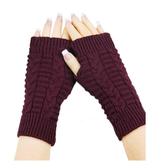 Knitted Long Hand Gloves Women's Warm Embroidered Winter Gloves Fingerless Gloves For Women Girl - SolaceConnect.com