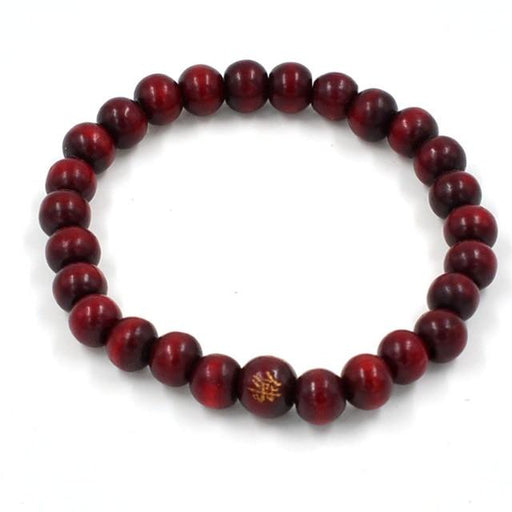 Unisex Natural Sandalwood 108 Beads Knot Buddhist Prayer Bracelets - SolaceConnect.com