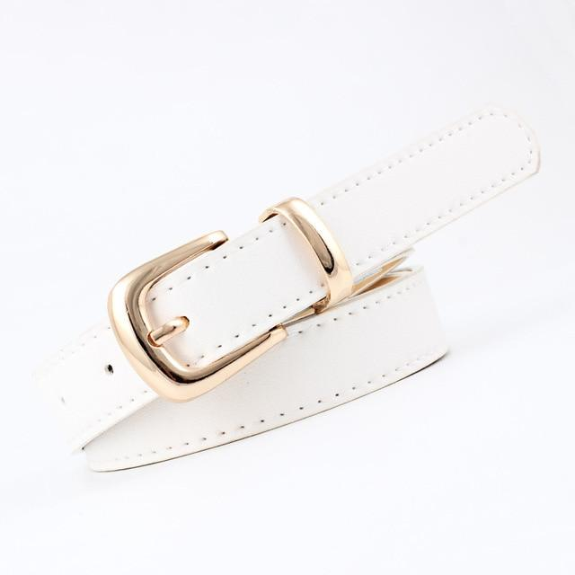 Ladies Adjustable Gold Silver Pink Buckle Wide Waistband Waist Belts - SolaceConnect.com