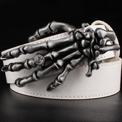 Wild men's women's belt metal rock Hip Hop accessories skull Claw belt hand bone girdle popular - SolaceConnect.com