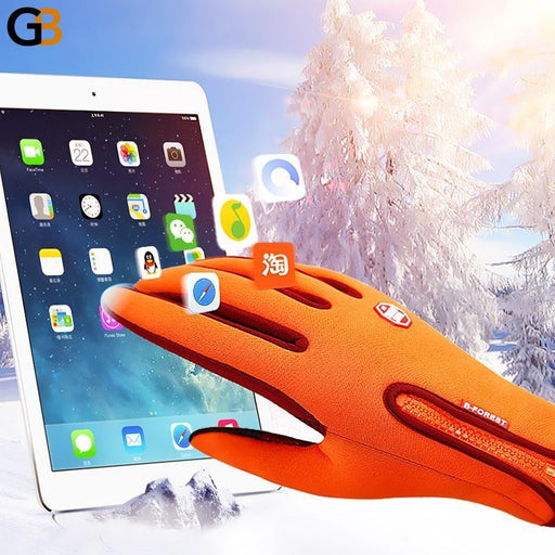 Unisex Windproof Touch Screen Outdoor Sports Winter Gloves Guantes - SolaceConnect.com