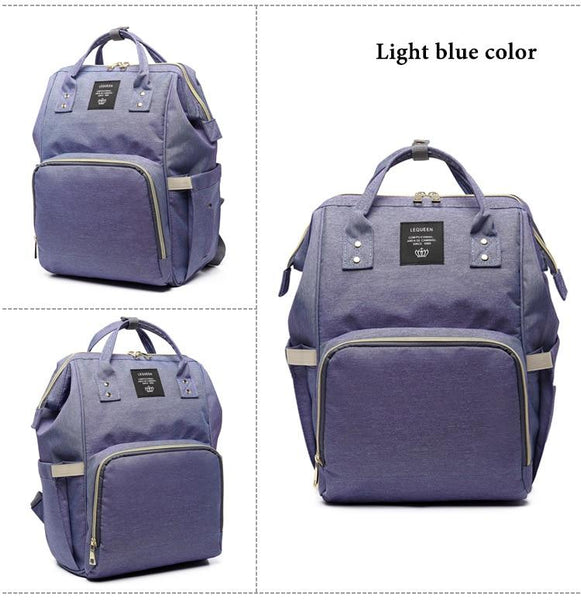Mom's Fashion Designer Large Capacity Nursing Baby Travel Backpack - SolaceConnect.com