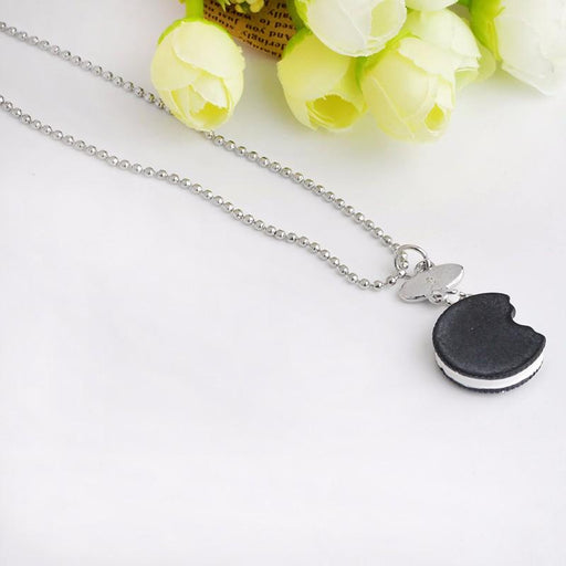 Unisex 2 Pieces Set of Mini Oreo Biscuits and Coffee Pendant Necklace - SolaceConnect.com