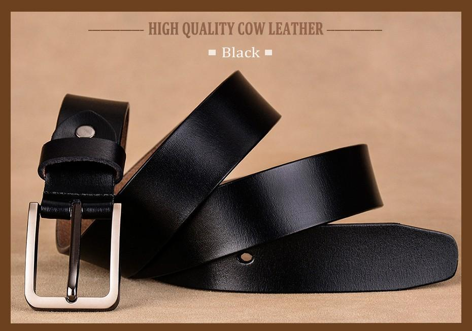Luxury Female Fashion Second Layer Cow Skin Leather Strap Pin Buckle Belt - SolaceConnect.com