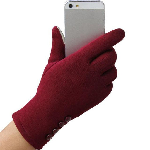 Fashion Women Winter Gloves Female Ladies Girls Cotton Glove Outdoor Warm Full Finger Gloves - SolaceConnect.com